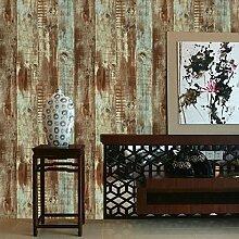 American Country und Retro Industrie Wind Holzmaserung Hintergrund Tapete Kleidung Speichert Internet Caf ¨ ¦ Bar und Living room-bedroom Tapete, Only the wallpaper, Brown (color wood)