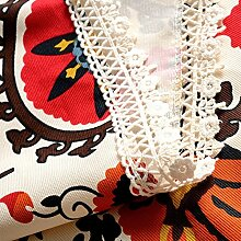 American Country Vintage Tischdecke/Baumwolle Wasserdicht Tischdecke/Lace-tuch-A 145x145cm(57x57inch)