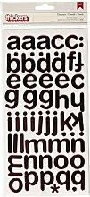 American Crafts Buchstaben-Aufkleber, Dicker