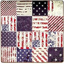 American Fashion Creative Teppich/Wohnzimmer Schlafzimmer Zimmer Quadratische Matte/Persönlichkeits-retro-fußauflage-A 120x120cm(47x47inch)