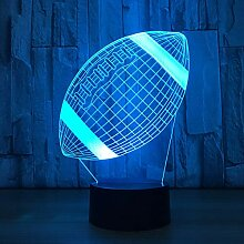 American Football 3D Nachtlicht Rugby Modell Led 7
