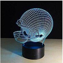 American Football Helm Lampe 3D Nachtlicht
