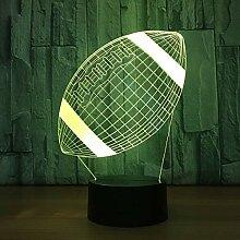 American Football Lampe 3d LED Touch Sensor Kinder