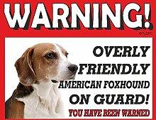 American Foxhound Guard Dog Metall Schild 11
