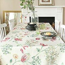 American frische tropische pflanze drucken tischtuch tragbar tischtuch kaffee tisch tuch tv schrank stoff-C 140x200cm(55x79inch)