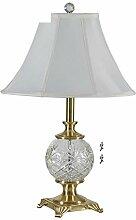 American Glaslampe/Europäisch,Wohnzimmerlampe/Schlafzimmer Lights/Nachttischlampe/Messing-tischleuchte-B