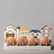 American Harz schönes Schwein kinder Wohnzimmer TV-Schrank Zimmer Dekorationen Schmuck Kunsthandwerk , schöne Schweine-