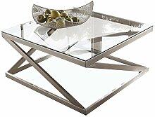 American Home Coylin Couchtisch, Metall, Glas,