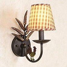 American Iron Wandlampe Wohnzimmerhintergrundschlafzimmer Nachttischlampe Wandleuchte im europäischen Stil Garten schmiedeeisernen Lampen