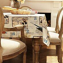American Ländlichen Leichten Vintage Tischdecke/Vogel Schmetterling Print Tischdecke-B 140x180cm(55x71inch)