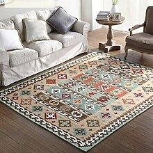 American Land Home Teppiche, memorecool Haustierhaus Acryl Faser reaktiver Druck Wohnzimmer/Schlafzimmer/Tisch/Sofa Bereich Teppiche Maschinenwaschbar 76,2x 149,9cm grün, khaki, 55x79inch