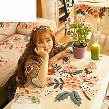 American Land Tischdecke/Pastorale Abdeckung Tuch/Tischtuch/Tabelle Tuch Für Wohnzimmer Und Couchtisch-A 160x110cm(63x43inch)