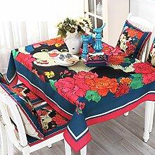 American Land Tischdecke/Stoff-tischdecke/Garten Moderne Homeboard Stoff Tischdecke-A 100x160cm(39x63inch)