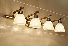 American Light Spiegel Retro Led American Spiegel Vorne Lampe Spiegel Schrank Lampe Europäische Badezimmer Spiegel Licht Einfache Badezimmer Lampen ( größe : Three -60cm )
