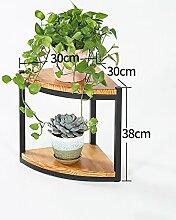 American Massivholz Boden Pflanze Stand 2 - Storey Blumentopf Regal Blume Rack Für Balkon Wohnzimmer Indoor ( größe : 38cm )