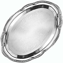 American Metalcraft Serviertablett, oval, Chrom