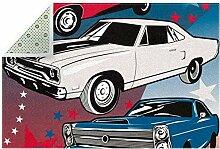 American Muscle Cars Teppich Anti-Rutsch-Fußmatte