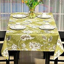 American pastoral stil gaststätte quadrat kaffee tisch kleidung modern rural tv schrank tischtuch-A 135x135cm(53x53inch)