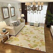 American Pastoral Style Area Teppich für Wohnzimmer - Blumenmuster - Nordic Style Border Mat für Schlafzimmer Esszimmer - Kurzflor Designer Teppich ( größe : 180*280cm )