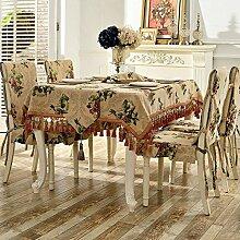 American Pastoral Tisch Tischdecke/Haushalt Tischdecke/Tabelle Tuch Für Wohnzimmer Und Couchtisch-A 210x150cm(83x59inch)