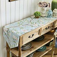 American Pastoral Tisch-tischläufer/Couchtisch TV Schrank-tischdecke/Kommode Schuh-A 30x270cm(12x106inch)