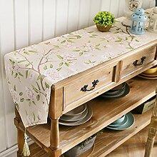 American Pastoral Tisch-tischläufer/Couchtisch TV Schrank-tischdecke/Kommode Schuh-B 30x150cm(12x59inch)