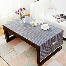 American pure color table tuch,home tischdecke,vintage tischdecke.lÄndlichen] moderne landschaft edge teetisch sauber längliche tischdecke.mehrere farben.blue-Blau 80x180cm(31x71inch)