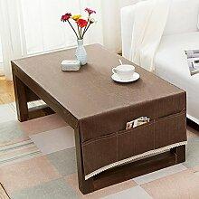 American pure color table tuch,home tischdecke,vintage tischdecke.lÄndlichen] moderne landschaft edge teetisch sauber längliche tischdecke.mehrere farben.brown-braun 70x180cm(28x71inch)