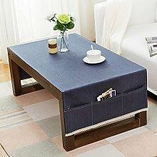 American pure color table tuch,home tischdecke,vintage tischdecke.lÄndlichen] moderne landschaft edge teetisch sauber längliche tischdecke.mehrere farben.-E 70x160cm(28x63inch)