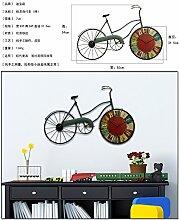 American retro Wanduhr Wohnzimmer Wand Dekoration kreative Fahrrad Bar im mediterranen Stil Wandmalereien dekoriert,)