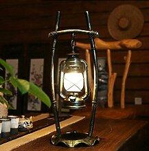 American - Stil Eisen Tischlampe Chinesisch Retro Nostalgie Kreative Lampe Wohnzimmer Licht Schlafzimmer Bar Kaffee Tischlampe