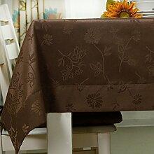 American style,home tischdecke,vintage tischdecke.drucken,deluxe tischtuch.lÄndlichen] moderne landschaft edge teetisch sauber längliche tischdecke.mehrere farben.brown-braun 140x180cm(55x71inch)