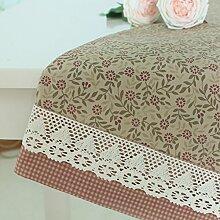 American-style Ländliche Moderne Stoff Tischdecke/Gebrochenen Spitzen Tischdecke Tisch Tischdecke-B 130x200cm(51x79inch)