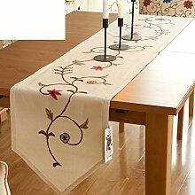 American Style,Landwind,Blumen Tisch Tisch Flagge/Fluidsysteme,Verschönert & Bestickt,Ländlichen,Europäisches Bett/Tischläufer-A 40x180cm(16x71inch)