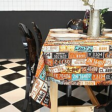 American style persönlichkeit platte tischdecke.vintage druckerei tee tischdecke.mehrere farben.-B 140x200cm(55x79inch)