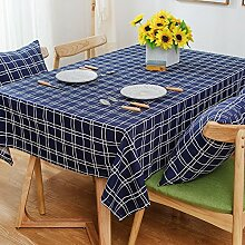 American style,simple lÄndlichen] raster-tischdecke rechteck teetisch modernes haushalt tücher.mehrere farben.blue-Blau 140x200cm(55x79inch)