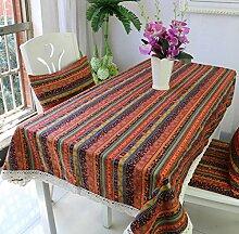 Amerikanische Baumwoll-Leinen Tischdecke Couchtisch Tuch Nachttisch Schrank Schrank Hausdekoration Tischdecke rechteckige Tischdecke große Tischdecke , #1 , 90*90cm