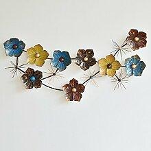 Amerikanische Eisen Blume Wanddekoration Wanddekoration Restaurant-Shop Mystery Sofa Hintergrund Wand Wanddekoration (Farbe wahlweise freigestellt) ( farbe : A )