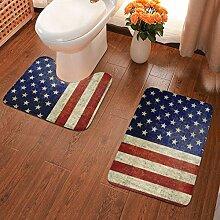Amerikanische Flagge mit Vintage Badematte 2