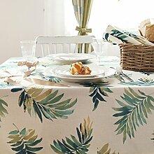 Amerikanische Frische Pflanze Druck Tischdecke,Tischtuch Kaffee Tuch,Tv-schrank Deckel Tuch-A 130*180cm(51x71inch)