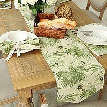 Amerikanische gedruckten Tischl?ufer/Kontinentale pastoralen Stil Tischl?ufer/TV-Schrank Tisch-Tischl?ufer-C 35x160cm(14x63inch)