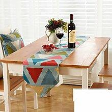 Amerikanische Gestreifte Gedruckten Tischläufer/Europäische Garten Wind Tabelle Tischläufer/TV Schrank Tisch Tischläufer-D 30x200cm(12x79inch)