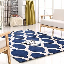 Amerikanische Handmade Acryl Teppich Mittelmeer blau und weiß Wohnzimmer-Sofa Acryl Teppich Designer empfehlen hochwertigem Acryl Aktiv Färbeverfahren