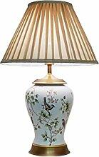 Amerikanische keramische Lampe Moderne minimalistische Wohnzimmer Chinesische Bett Schlafzimmer Bedside Lampe