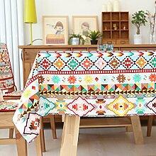 Amerikanische Ländliche Baumwolle Tischdecke/Bedeckung-tuch/Tischtuch/Tee Tischdecke-A 130*180cm(51x71inch)