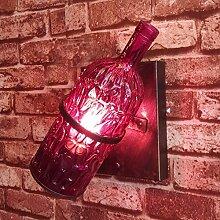 Amerikanische Land Restaurant, Eine Flasche Wein, Glas Wall Lamp, Kreative Coffee Shop, Bar Dekoration Wall Lamp, Persönlichen Internet - Café Wall Lamp,Blau
