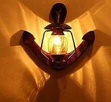 Amerikanische Landwandlampe Massivholz-Wandlampe