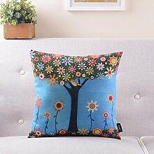 Amerikanische landwirtschaftliche Pastoral-Sofa-Kissen Baumwolle Leinen Kissen Lendenkissen Nachtkissen Lendenkissen mit Core ( farbe : # 7 )