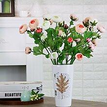 Amerikanische Möbel Schmuck weißer Keramik Vase Blumentöpfe für Mittelstücke Weihnachten Geburtstag Hochzeit Party Geschenk Desktop Home Decor