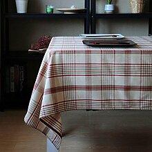 Amerikanische pastoral/raster tischdecke/tee tischdecke.lÄndlichen]/edge/simple/sauber/längliche tischdecke.-B 90x90cm(35x35inch)
